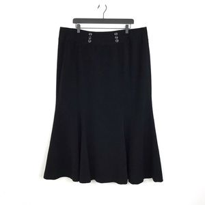 Lane Bryant Classic Double Breasted Maxi Skirt